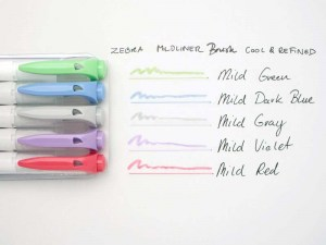 Ejemplo de color de los Zebra Mildliner Pincel Cool & Refined